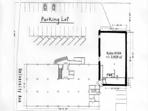 811 University Avenue, Berkeley - Retail / Showroom Floor Plan